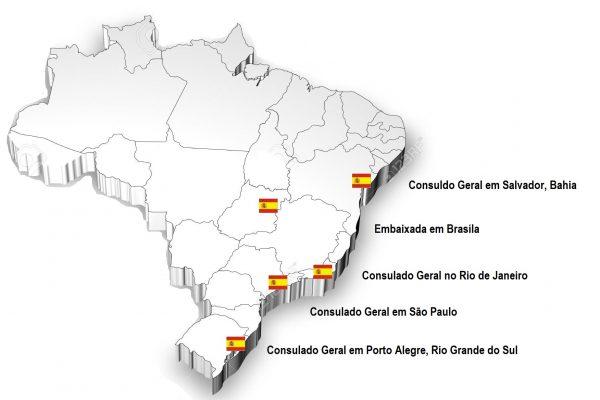 Mapa Espanha Brasil